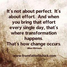 Strive to make the effort