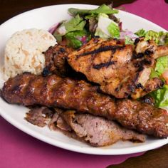 Mixed Grill - There is nothing better than a Mediterranean mixed grill.