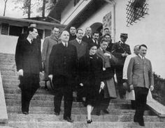 Hitler precedes the Duke and Duchess of Windsor, following a visit by the Ducal…