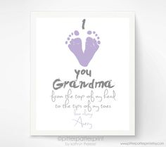Personalized Mother's Day Gift for Grandma I by PitterPatterPrint