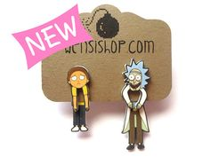 Rick and Morty earrings. Um, YES PLEASE!