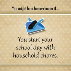 You might be a homeschooler if...