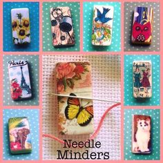 Handmade Magnetic Needle Minders  For crossstitch, embroidery, or any needle craft. Will post worldwide More designs available over in my shop.  £3.99 each plus postage
