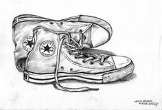 converse all star - sketch by affanMX on DeviantArt All Star Shoes, Converse All Star, All Star Tumblr, Converse Drawing, Chuck Taylors, All Star Tattoo, Pencil Drawings, Art Drawings, Observational Drawing