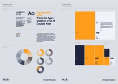 Nice styleguide that explores colours, type and infographic styles