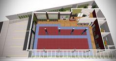 Projeto escritório Atelier da Reforma - Academia de Kung Fu Shaolin Salvador - SketchUp + Vray