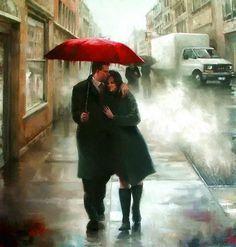 Promenade sous la pluie ...