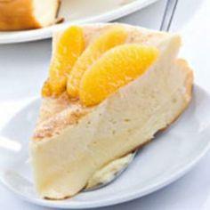 Vanilla Cake with Sauteed Peaches