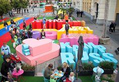 TheMalmöFestival: Instalación presentada en el 30 aniversario de este festival que se celebra en Suecia...