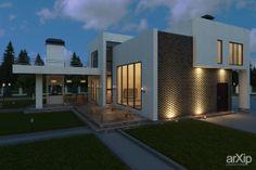 Экстерьер дома с использованием 3d панели Bricks на фасаде: архитектура, 2 эт | 6м, жилье, минимализм, 200 - 300 м2, здание, строение #architecture #2fl_6m #housing #minimalism #200_300m2 #highrisebuilding #structure arXip.com