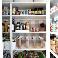 Pantry organization makeover with the container store Laundry Room Wall Decor, Guest Room Decor, Salsa, Affordable Rugs, Fries In The Oven, Container Store, Shop Plans, Pantry Organization, Healthy Living Tips