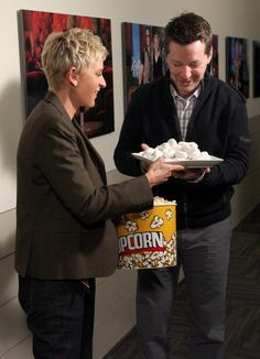 Ellen and Sean Hayes eat their hearts out after Jillian Michaels chewed them out for a hilarious skit