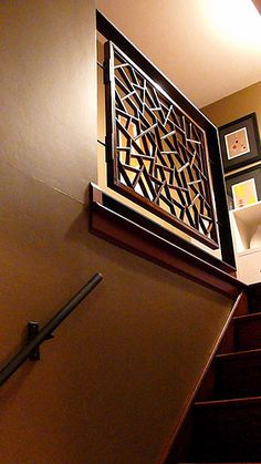MODERN Stair Railing @ Suburban Split Level Home | Flickr - Photo Sharing!