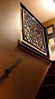 MODERN Stair Railing @ Suburban Split Level Home   Flickr - Photo Sharing!