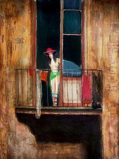 N David, Artist, Houses, Painting, People, Watercolor Art, Illustrations, Verses, Paint
