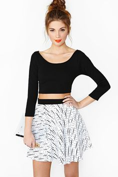 Caprice Crop Top - Black in Clothes Tops Cropped at Nasty Gal