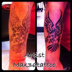 Tattoo tribal aquila