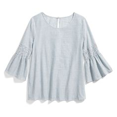 I really love bell sleeves, and I adore the ruffles!! The neckline is nice and simple and perfect for conservative events (aka parent/teacher conferences).