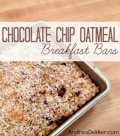 chocolate chip oatmeal breakfast bars