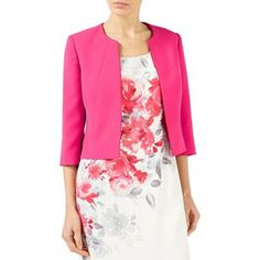 Jacques Vert Bright pink styled crepe edge to edge jacket   Debenhams