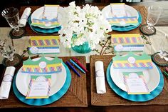 Super-dee-duper cute Back-To-School themed/goal setting dinner party for the whole family! (free download)