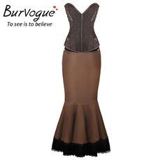 Long Skirt Steampunk Corset Dress