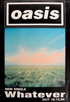 Oasis poster - Whatever Photo Wall Collage, Bedroom Wall Collage, Picture Wall, Room Posters, Poster Wall, Poster Prints, Oasis Album, Oasis Band, Rock Band Posters