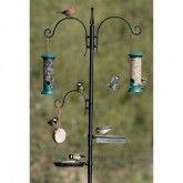 Bird food & feeding station feeder pole