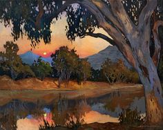 Items similar to Sunset, Moonrise - Giclee Fine Art PRINT of Original Painting matted by Jan Schmuckal on Etsy Cool Landscapes, Landscape Paintings, Oeuvre D'art, Painting Inspiration, Impressionism, Fine Art Prints, Original Paintings, Sunset, Pictures