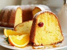 Curd cake with orange scent NejRecept. Czech Recipes, Ethnic Recipes, Bunt Cakes, Pound Cake, Graham Crackers, Cheesecakes, Food Hacks, Cornbread, Baked Goods