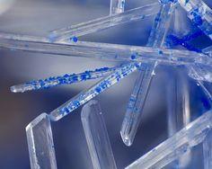 Gypsum & Azurite from Arizona by Tony Peterson via Mindat