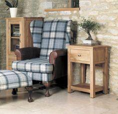 buy baumhaus mobel oak 1 drawer lamp table the furn shop