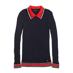 Navy SPORTY SWEATER POLO from Tommy Hilfiger USA