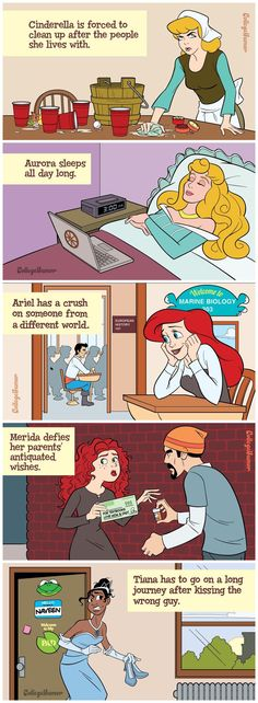 Disney Princesses Reimagined As College Students