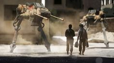 no sudden movements! by col price | Robotic/Cyborg | 2D | CGSociety