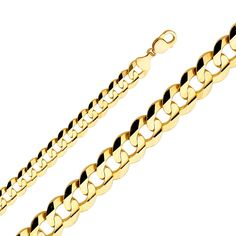 01b1058fe443f 2.2MM- 14MM 14K SOLID YELLOW GOLD CUBAN LINK WOMEN  MEN S NECKLACE CHAIN 8