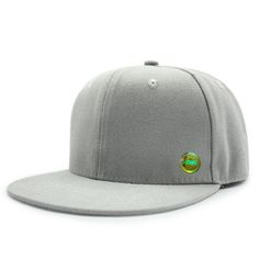 030dc54335b Boy Girl Kid Plain Color Simple Design Snapback Cap Gray