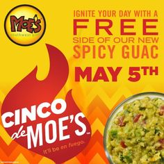 Cinco De Mayo Celebration At Moe's Southwest Grill - Online Military Discounts and Deals | MilitaryBridge
