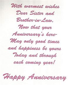 happy anniversary sister and brother in law Happy Anniversary Sister, Good Morning Song, Dear Sister, Kids And Parenting, Good Times, Brother, Sisters, Image