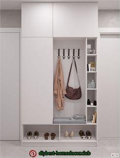 Wardrobe in the hallway, white wardrobe - Mudroom Romantic Home Decor, Cute Home Decor, Fall Home Decor, Home Entrance Decor, Entryway Decor, Flat Interior, Home Interior Design, Bedroom Closet Design, Hallway Furniture