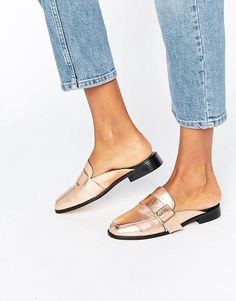 ASOS MIKI rose gold Loafer Mules