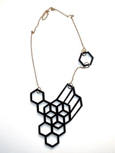 geometric black necklace www.eskildesign.com