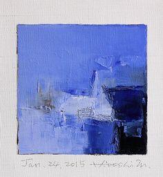 Il sagit dune peinture à lhuile abstraite Original par Hiroshi Matsumoto  Titre : 24 janvier 2015 Taille : 9,0 cm x 9,0 cm (env. 4 « x 4 ») Taille du canevas : 14,0 cm x 14,0 cm (env. 5,5 « x 5.5 ») Médias : Huile sur toile Année : 2015  Il sagit de ma peinture quotidienne appelée peinture 9 x 9 et le titre est la date que jai créé cette peinture.  Peinture est livré avec passe-partout (les images de 2-5)  Peinture est dépoli et en écru pour adapter le cadre standard 8 pouces x 10 pouces…