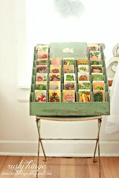Perfect display idea for my vintage style hand painted cards..