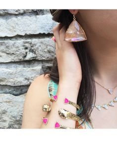 Nikki Drop Earrings in Brown Mother-of-Pearl - Kendra Scott Jewelry. Coming April Jewel Box, Kendra Scott Jewelry, Women's Accessories, Jewels, Drop Earrings, Crystals, Detail, Bracelets, Summer 2015
