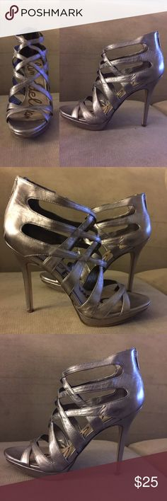"""Sexy Sam Edelman Silver 5.5"""" hills. Very Sexy hills, Slight feeling scuff on the hook and on the side. Sam Edelman Shoes Heels"""