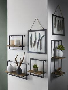 18 wall shelves ideas for your room 00003 Shelves In Bedroom, Wall Shelves, New Living Room, Living Room Decor, Cheap Home Decor, Diy Home Decor, Interior Decorating, Interior Design, Living Room Inspiration