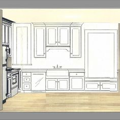 Standard Window Size Over Kitchen Sink. See More. New Blog Post: Planning  Our DIY Kitchen Remodelu2014 Tentative Layout And Design. #