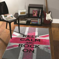 Tapis chambre ado rock on flair rugs 100X160