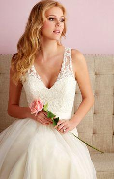 Flattering neckline Allure Romance Spring 2014 Bridal